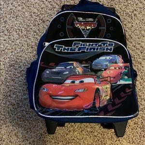 Disney cars backpack luggage